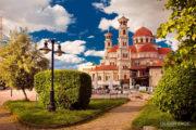 De christelijke orthodoxe kathedraal van Korca