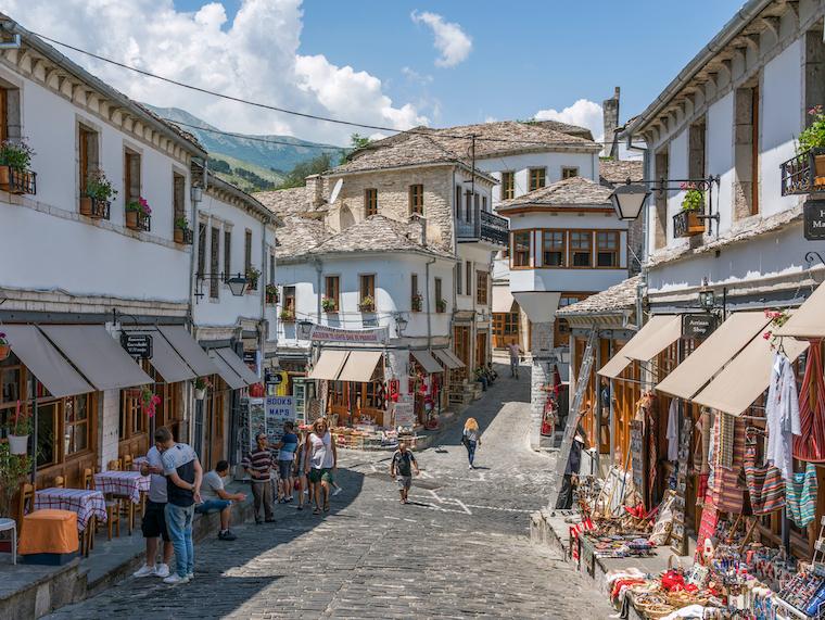 markt Gjirokaster