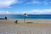 Leeg strand Albanië