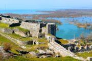 Shkodra, kasteel, Albanië, ruïne, oude nederzetting, oudheid, natuur, water
