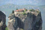 meteora, griekenland, huis, rots, gebergte, bergen