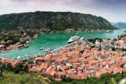 Kotor, stad, gebergte, bergen, water