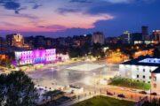 tirana, plein, hoofstad, albanie