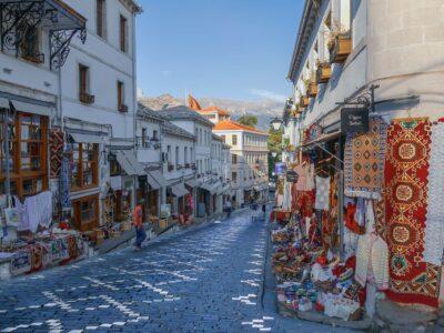 gjirokaster markt, Albanie
