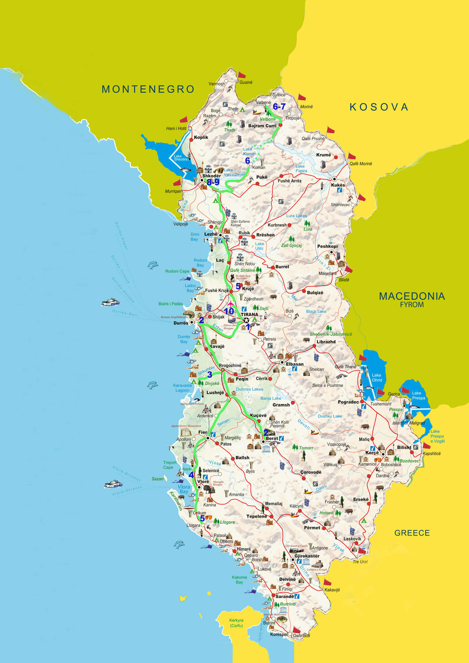 10-dagen-vogel-en-wild-spotten-kaart-ALBANIE