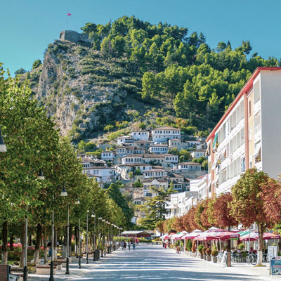 wandelpromenade in berat albanie