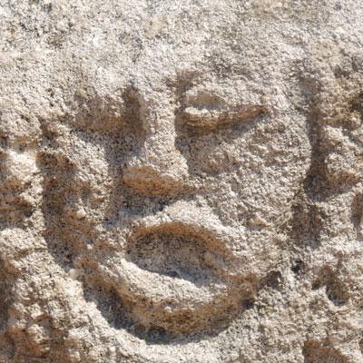 Butrint gezicht-in-rots