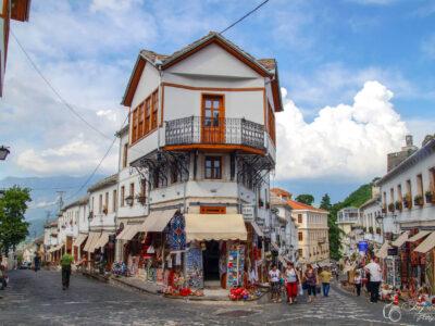 Gjirokaster bazaar markt albanie