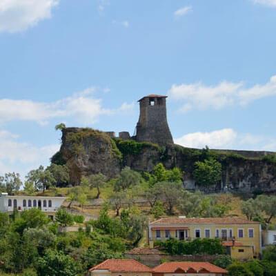 Kruja Uitkijktoren Kasteel-Skanderbeg
