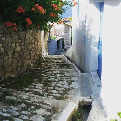 dorpje Lukova in het zuiden van Albanie